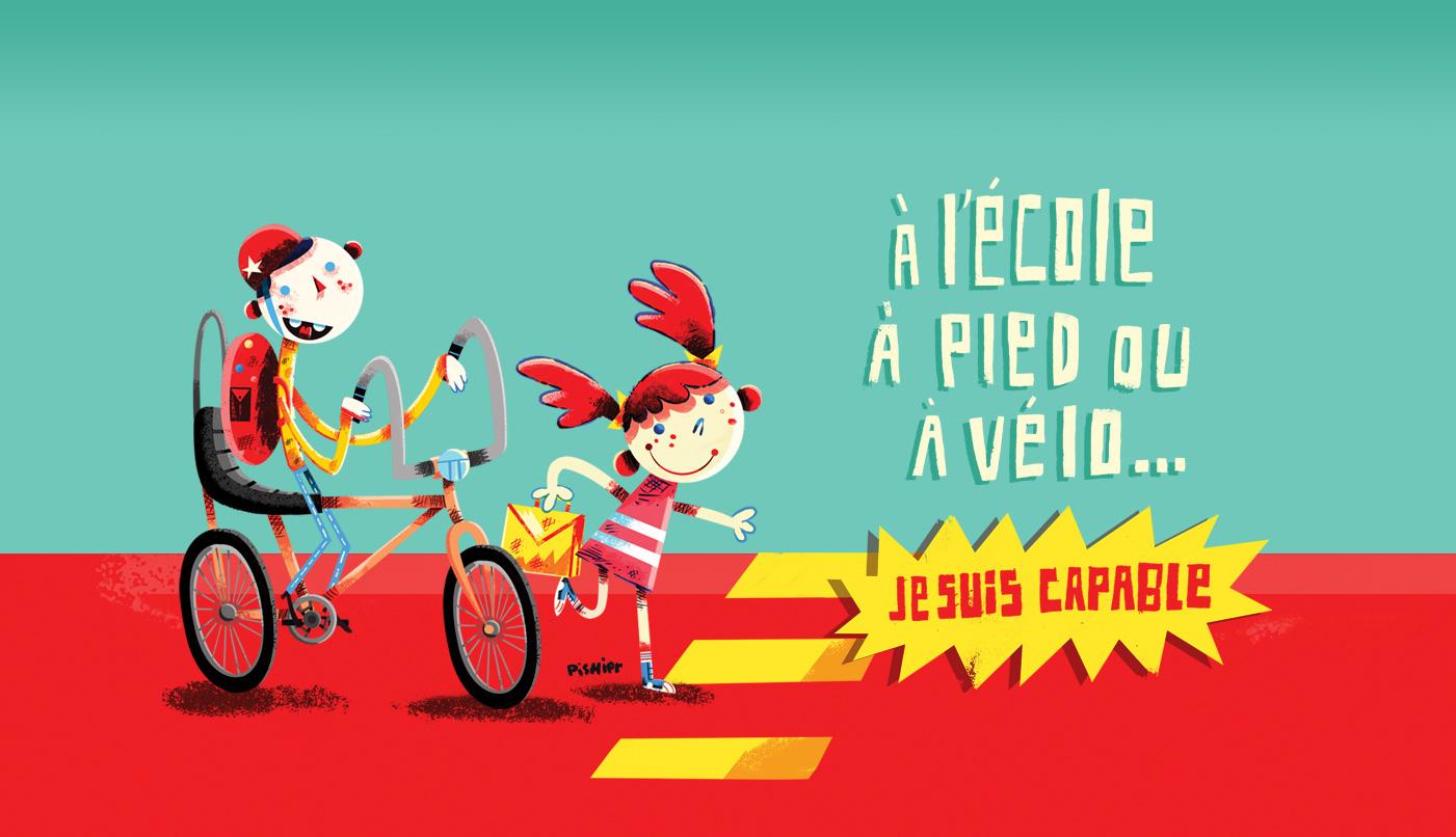À l'école à pied ou à vélo, Je suis capable!